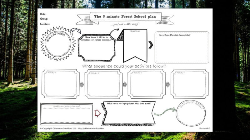 5 Minute Forest School Lesson Plan
